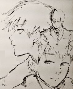 "asbehsam: "" "" art by Sui Ishida "" always draws Kaneki so beautiful """