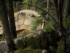 I want to do this.....but I don't know if I have the guts : Whistler Mountain Bike Park, ramp