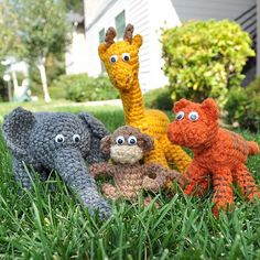 crocheted animal plush animal yellow art doll soft sculpture gerry 2 ...