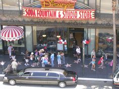 The Hollywood Disney store - complete with soda fountain. #disney
