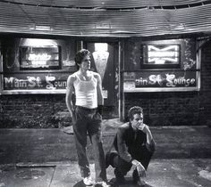 """Matt Dillon and Mickey Rourke in Francis Ford Coppola's """"Rumble Fish"""", 1983"""