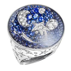 """CHANEL """"Comete"""" sapphire and diamond ring. http://www.1stdibs.com/jewelry/section/antique-fine-jewelry/dome-rings/chanel-comete-sapphire-diamond-ring/id-j_93349/"""