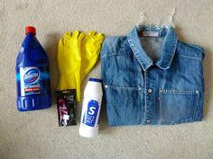 Dip Dye Denim. for more DIY just followed http://leightravers.blogspot.co.uk/search/label/DIY