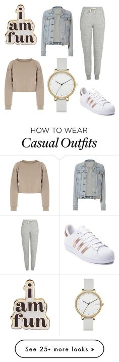 """casual days"" by jrbenoit on Polyvore featuring ban.do, rag & bone, My Mum Made It, Topshop, Skagen and adidas"