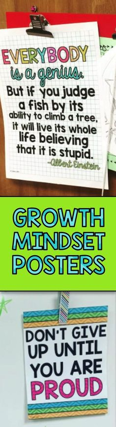 Two FREE growth mindset posters to get your students thinking ...