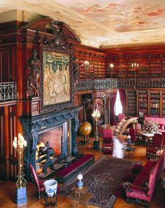 A Legendary Library Fireplace . . . Designed to Speak Volumes!