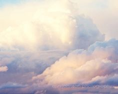 Possibilities for Cloud City Wall Art; landscape cloud photography pink decor blue decor nursery art fine art sky photography cloud wall art Look at the Clouds