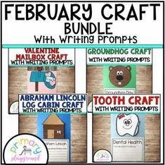 February Craftivities With Writing Prompts/Pages - Primary Playground