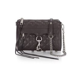 "Rebecca Minkoff Mini M.A.C. Crossbody Purse Rebecca Minkoff quilted mini MAC Crossbody purse. Functioning front zipper pocket. Adjustable chain strap can be worn Crossbody or doubled. Quilted leather. Custom silver hardware. Price firm. 21"" drop length. New grey color. Rebecca Minkoff Bags Crossbody Bags"