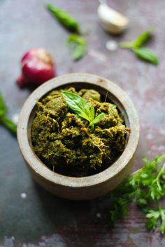 Thai Green Curry Paste: coriander, cumin, lemongrass, galangal, green chili, garlic, shallots, lime, basil, soy sauce