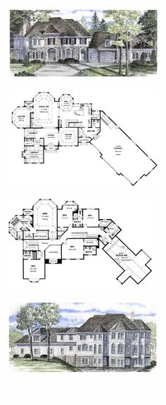 COOL House Plan ID: chp-44790 | Total Living Area: 5180 sq. ft., 4 bedrooms and 5 bathrooms. #luxuryhome