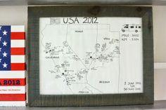 StijlSpotter.nl: roadmap illustration #diy #travel #USA