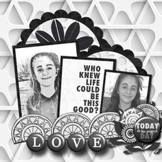 Pictures of my daughter.  Kit used: Paty Greif's Geometric World available at https://www.pickleberrypop.com/shop/product.php?productid=37660&page=1  Template by Brenian Designs.