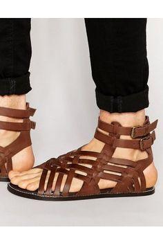 NAPOLI Gladiator Sandals Leather Sandals Mens by MandalaLeathers