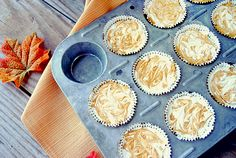 Eat Yourself Skinny!: Mini Pumpkin Swirl Cheesecakes - Points+: 3 pts Servings: 12 Serving Size: 1 mini cheesecake Calories: 106 Fat: g Carbs: g Fiber: g Protein: g Ww Desserts, Healthy Desserts, Delicious Desserts, Dessert Recipes, Yummy Food, Drink Recipes, Healthy Recipes, Pumpkin Recipes, Fall Recipes