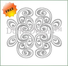 Freebie heirloom embroidery design 248 , download and sew