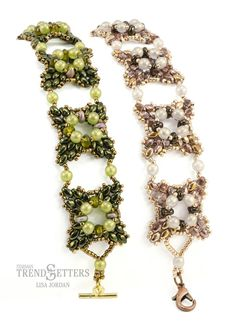 New MiniDuo and SuperDuo pattern from Lisa Jordan – Rose Windows Bracelet
