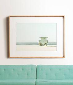 Fine art prints and printable art - Abstract pastel print Large Wall Art, Framed Wall Art, Ocean Photos, Beach Print, Lifeguard, Beach Photography, Coastal Decor, Painting Frames, Frames On Wall