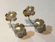 Drop Back Pearl Earrings