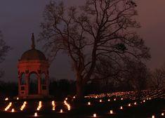 Discover Christmas Memorial Illumination - Antietam Battlefield Sharpsburg Maryland in the Blue Ridge area with Go Blue Ridge Travel.