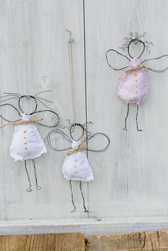 Decoración navideña, bricolaje, ángel de alambre, pomponetti Informations About Meine ersten Engel oder Drahtengel DIY Christmas Angels, All Things Christmas, Winter Christmas, Christmas Time, Wire Crafts, Holiday Crafts, Diy And Crafts, Crafts For Kids, Deco Noel Nature