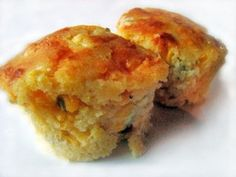 Jalepeno Cheddar Corn Bread Muffins - so moist!