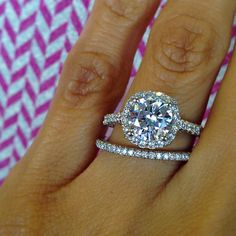 We belong together. #Tacori engagement ring and wedding band. PERFECTION.