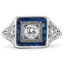 Image result for art deco sapphire ring
