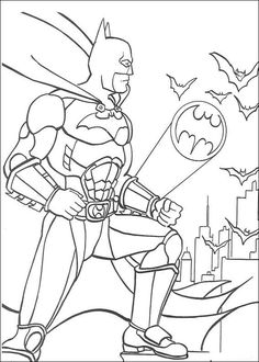 Batman Signal Coloring Page. Who doesn't know Batman? Maybe all Dc fans and superhero movie fans must have heard at least this Batman figure. Batman is one of the most famous supe. Bat Coloring Pages, Superhero Coloring Pages, Boy Coloring, Online Coloring Pages, Printable Coloring Pages, Coloring Books, Super Hero Coloring Sheets, Coloring Sheets For Kids, Batman Drawing