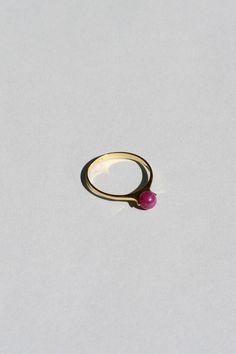 Ruby Solitaire ring · Saskia Diez