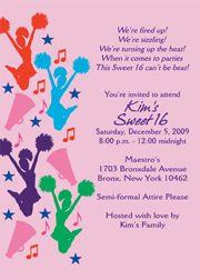 Cheerleading Party Invitation