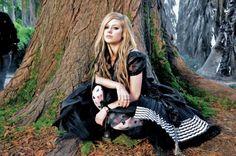 Avril in dress / video