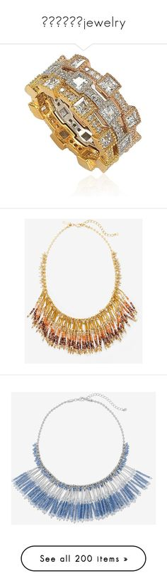 💎💎💎💎💎💎jewelry by georginalan on Polyvore featuring polyvore, women's fashion, jewelry, rings, multicolor, band rings, pave ring, sterling silver cz rings, sterling silver rings, rose ring, necklaces, beading necklaces, plastic bead necklace, handcrafted beaded jewellery, handcrafted beaded jewelry, beaded statement necklace, fake jewelry, statement bib necklace, beading jewelry, earrings, earring jewelry, j crew jewelry, tassel earrings, j crew jewellery, j crew earrings, white, chain…