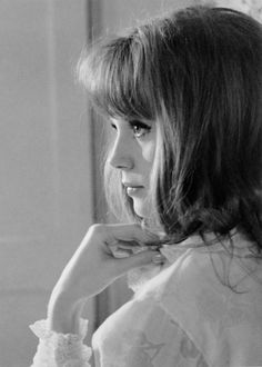 "framboisedorleac: "" Françoise Dorléac photographed by Raymond Cauchetier on the set of La Peau Douce, 1963. """