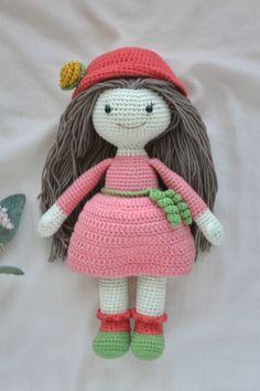 Crochet doll clothes pattern. Cute doll crochet pattern.