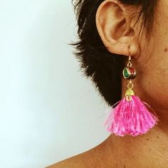 A personal favourite from my Etsy shop https://www.etsy.com/au/listing/479187591/blush-pink-tassel-boho-festival-earring