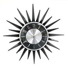 Retro Star Shaped Wall Clock