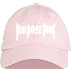 Justin Bieber Purpose Tour Baseball Cap Justin Bieber Hat (£12) ❤ liked on Polyvore featuring accessories, hats, baseball caps hats, justin bieber, baseball cap, ball cap and vinyl hat