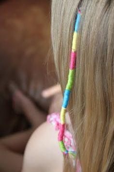 Hair Wraps ~ A big thing at the beach.