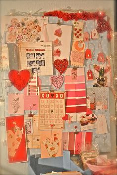valentine mood board- interesting, fun, inspiring, &simple post to show the process