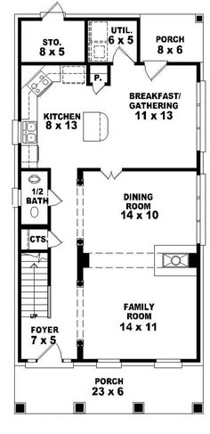 """2 story"""" house plan """"narrow lot"""" """"courtyard"""" """"downstairs master"""