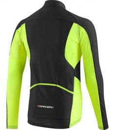 Louis Garneau Ventila Jersey: Yellow high visibility long sleeve cycling jersey for biking in cooler temperatures in fall and spring. This could also make for a good layer to add when cycling in cold weather as a breathable long sleeve mid-layer.