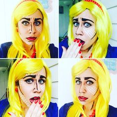Lichtenstein pop art Halloween costume