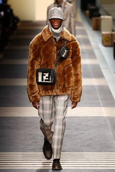 See the full Fall 2018 menswear collection from Fendi.