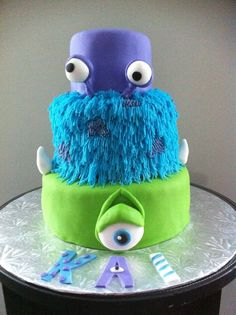 Monsters Inc Birthday Cake on Cake Central