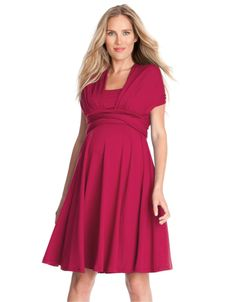 Cerise Multiway Maternity Dress red
