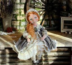 Купить Золотко текстильная коллекционная интерьерная авторская кукла - рыжий, авторская кукла, текстильная кукла