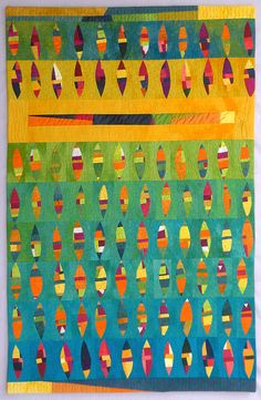 art quilt: pia welsch  This surfboard quilt would be perfect for someone I know.