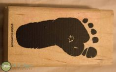 Baby foot stamp Stampin' Up Army Veteran Made by TazChessieArtwork, $4.00