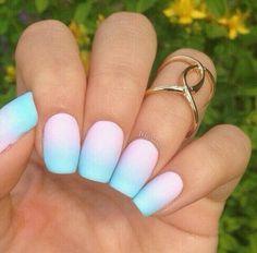 #nails  #pastel  cute -  pink -  long
